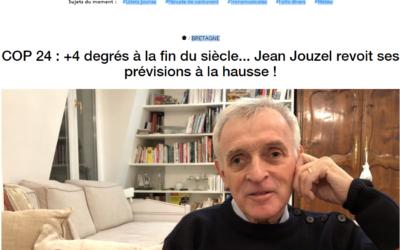 France 3 – COP 24 : +4 degrés à la fin du siècle… Jean Jouzel revoit ses prévisions à la hausse !