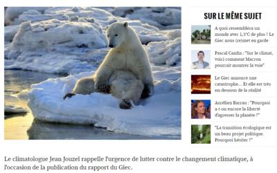 Nouvel Obs – Jean Jouzel – Climat : «Il ne nous reste que trois ans pour inverser la courbe»