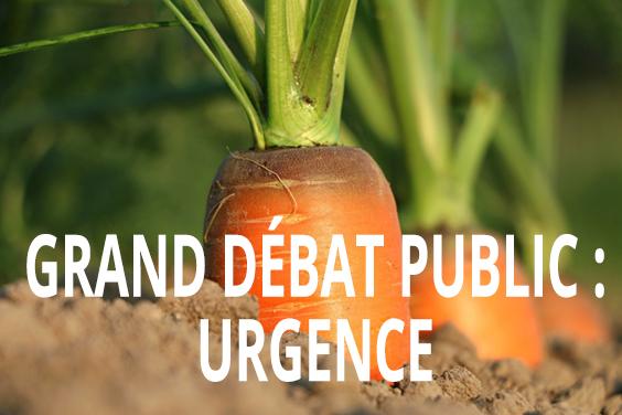 Grand débat public: urgence